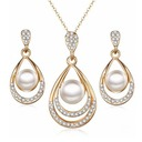 Fashional Alloy Rhinestones Imitation Pearls Ladies' Jewelry Sets