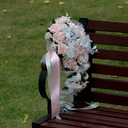 Cascade Silk Flower Bridal Bouquets (Sold in a single piece) -