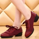 Women's Leatherette Fabric Flats Sneakers Dance Shoes