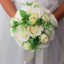Girly Round Silk Flower Bridal Bouquets (Sold in a single piece) - Bridal Bouquets