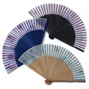 Floral Design Bamboo/Silk Hand fan (Set of 4)