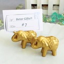 Golden Elephant Place Card Holders (Sold in a single piece)