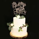 Personalized Mr. & Mrs. Acrylic/Wood Cake Topper