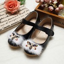 Kids' Leatherette Flat Heel Closed Toe Flats With Imitation Pearl Rhinestone