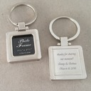 Groomsmen Gifts - Personalized Modern Zinc alloy Keychain (Set of 4)
