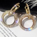 Beautiful Alloy Rhinestones With Rhinestone Women's Fashion Earrings (Sold in a single piece)