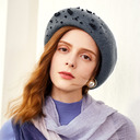 Ladies' Glamourous/Elegant/Pretty Wool/Polyester With Rhinestone Beret Hats