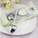 """Tea Time"" Heart Shaped Stainless Steel Tea Infuser With Ribbons/Tag"