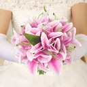 Lily Hand-tied Artificial Silk Bridal Bouquets/Bridesmaid Bouquets -