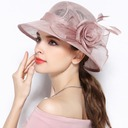 Ladies' Exquisite/Charming/Fancy/Romantic/Artistic Cambric With Flower Beanie/Slouchy