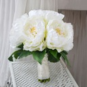 Attractive Round Artificial Silk Bridal Bouquets/Bridesmaid Bouquets -