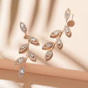 Ladies' Fashionable Alloy/Rhinestones Rhinestone Earrings