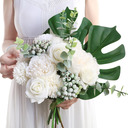 Classic Free-Form Silk Flower Bridal Bouquets - Bridal Bouquets