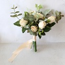 Elegant Free-Form Satin Bridal Bouquets/Bridesmaid Bouquets (Sold in a single piece) - Bridal Bouquets