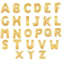 "32"" Gold Letter alphabet Balloons A-Z (Sold in a single piece)"