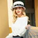 Ladies' Gorgeous/Classic/Elegant Wool With Tulle Bowler/Cloche Hats/Kentucky Derby Hats/Tea Party Hats