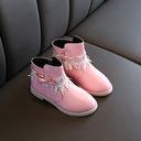 Jentas Ankelstøvler Leather Støvler med Bowknot