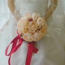 Elegant Round Satin/Artificial Silk Bridal Bouquets -