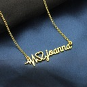 Personalized Unisex Hottest Gold Plated Name Necklaces For Bride/For Bridesmaid/For Mother