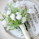 Hand-tied Artificial Flower Boutonniere (Sold in a single piece) -