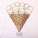 Hanging Basket Flower Pot Wall Decoration (Sold in a single piece)