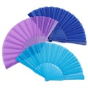 Elegant Silk/Polypropylene Hand fan (Set of 4)