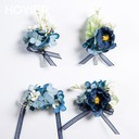 Gorgeous Free-Form Satin/Fabric Wrist Corsage (Sold in a single piece) -
