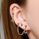 Vintage Alloy Women's Fashion Earrings (Set of 3)