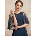 A-Line Scoop Neck Ankle-Length Chiffon Lace Mother of the Bride Dress With Beading Sequins (008252052)