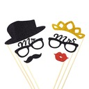 """Mr. & Mrs."" Sponge Photo Booth Props (6 pieces)"