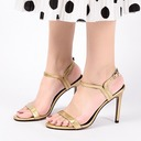 Women's Patent Leather Stiletto Heel Sandals Pumps With Buckle shoes