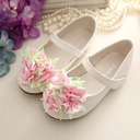 Girl's Closed Toe Microfiber Leather Flat Heel Flats Flower Girl Shoes With Velcro Flower