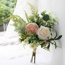 Elegant Free-Form Satin Bridal Bouquets/Bridesmaid Bouquets (Sold in a single piece) -