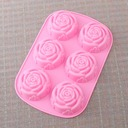 Rose Design Silikon Kake Mold