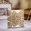 Floral Style Gate-Fold Invitation Cards (Set of 50)