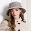 Ladies' Nice Wool With Feather/Imitation Pearls/Tulle Floppy Hat