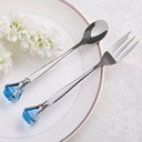 Crystal Diamond Stainless Steel Spoon And Fork Set