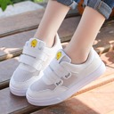 Girl's Round Toe Closed Toe Mesh Flat Heel Flats Sneakers & Athletic With Velcro