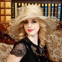 Ladies' Beautiful Organza With Bowknot Floppy Hat/Kentucky Derby Hats