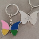 Personalized Butterfly Stainless Steel/Zinc Alloy Keychains (Set of 4)