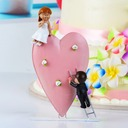 """I Wanna Love You"" Resin Wedding Cake Topper"