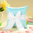 """Love Ever Lasting"" Ring Pillow in Satin With Sash/Faux Pearl"