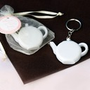 Love is Brewing Teapot Tape Measure Keychain Bridal Shower Favors