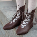 Women's Leatherette Flat Heel Flats Boots Ankle Boots With Lace-up shoes