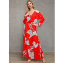 Polyester With Print Maxi Dress (199229039)