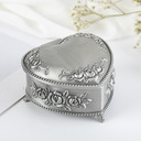 Personalized Heart Shaped Zinc Alloy Jewelry Holders With Heart