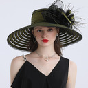 Ladies' Hottest/Romantic Polyester With Silk Flower Beach/Sun Hats/Tea Party Hats