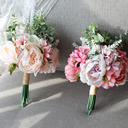 Beautiful Butterfly Round Silk Flower Bridal Bouquets -