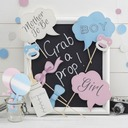 Photo Booth Props Card Paper (10 Pieces) BABY SHOWER Photo Booth Props Wedding Decorations