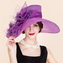 Ladies' Elegant Organza/Tulle Bowler/Cloche Hat/Kentucky Derby Hats